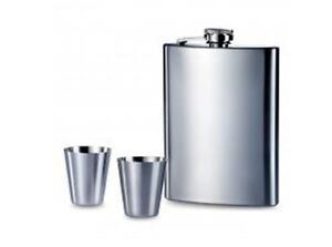 Personalised-8oz-Hip-Flask-and-2-Shot-Cups-Set-Engraved-Free-Bestman-Usher-Gift