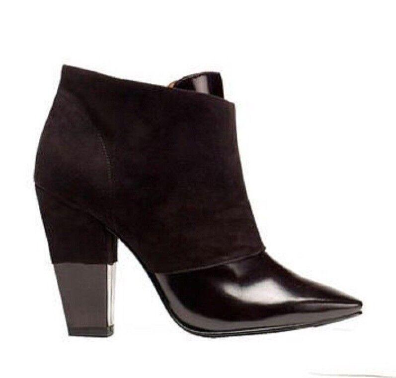 de moda SIGERSON MORRISON zapatos FACE TWO TONE botaIES botaIES botaIES ZIP ANKLE botas negro 8.5  precios al por mayor