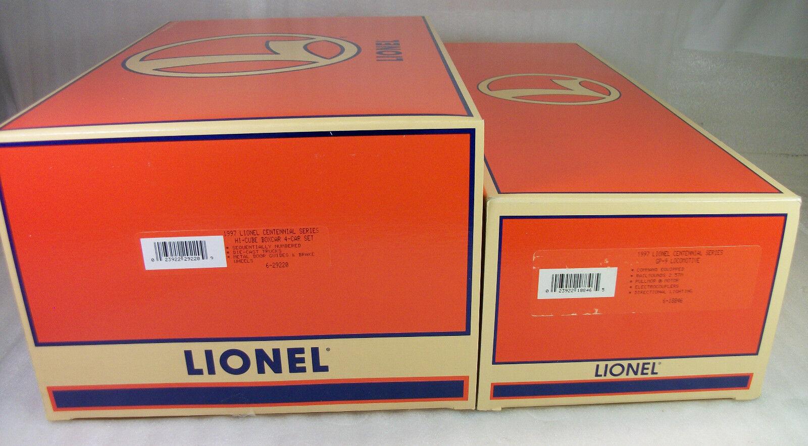 Lionel 18846 & 29220 1997 Century Memorial Kit GP - 9 4 cajas Mint obs