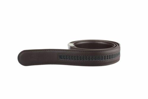 Riemen für Automatik Gürtel schwarz braun Spaltleder beschichtet Länge 105-160cm
