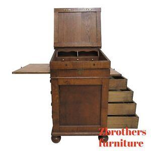Antique-Tiger-Oak-Davenport-Ships-Writing-Desk-Cabinet