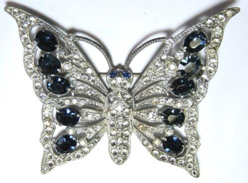 Staret Huge Rhinestone Vintage Butterfly Pin Monta