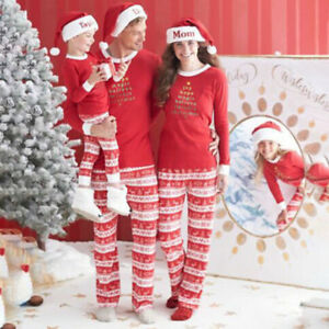 7a57e5347d Image is loading Family-Christmas-Pajamas-Sets-Xmas-Pjs-Matching-Adults-