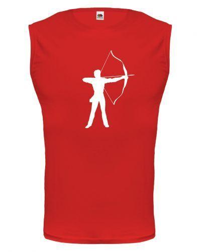 Muskelshirt ärmellos Tank Top Bogenschiessen Bogenschießen Schießsport Schütze
