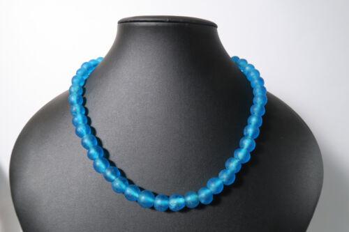 Pulverglasperlen 12mm Oceanblue BB13 Ghana Recycling Powder Glass Beads Krobo