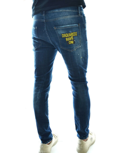 BNWT Dsquared2 Men's Jeans,Slim Fit Denim with patches