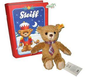 """Steiff 109942 Teddybär """"Carlo"""" in Märchenbuchbox<wbr/>, 23 cm, goldbraun NEU"""