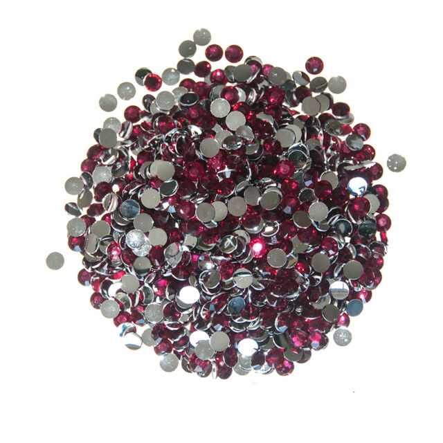 Artoz Red Round Crystals 3mm Craft Embellishment Stickers Card Making