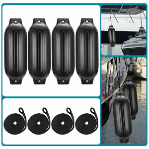 4pcs-Ribbed-Boat-Fender-8-5-034-x27-034-Inflatable-Center-Hole-Bumper-Mooring-Protection