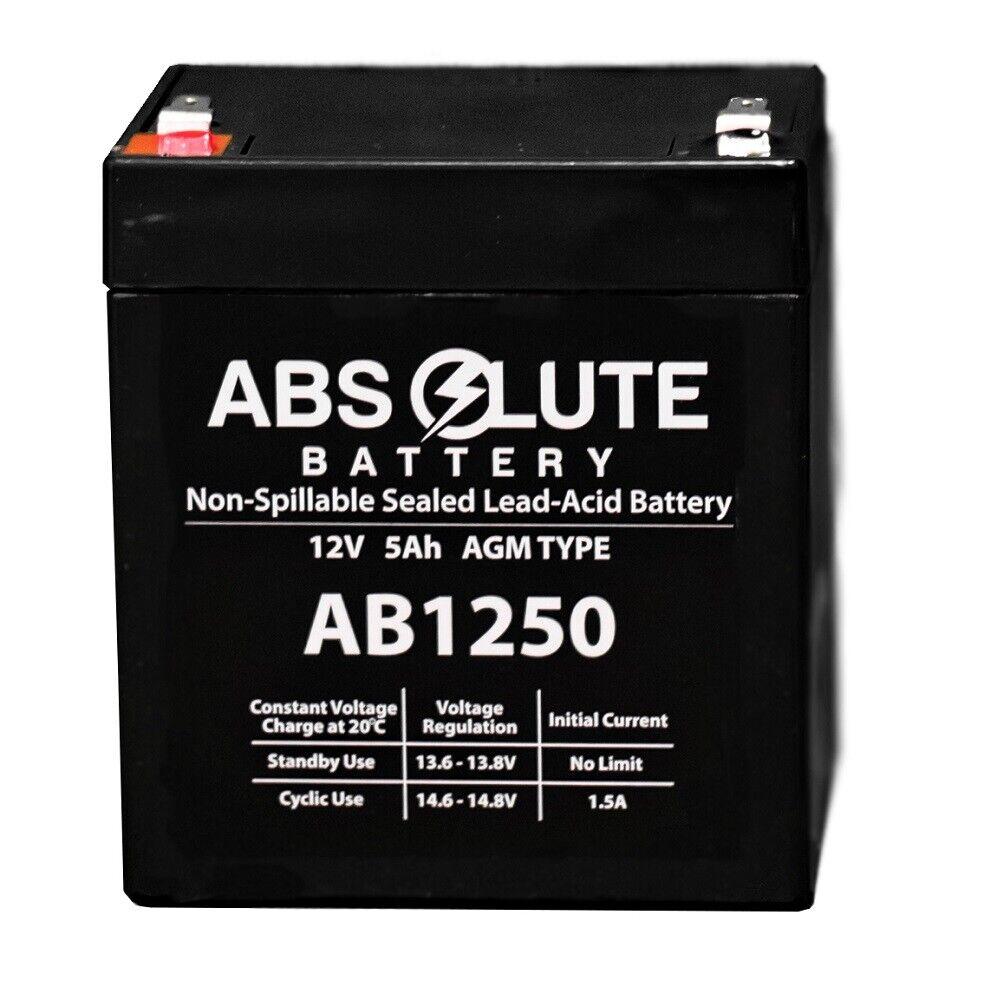 NEW NEW AB1250 12V 5AH SLA Battery Replaces LD System Roadjack RJ-8 PA System