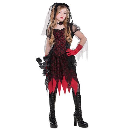 Le ragazze MORTALE Sposa Zombie Sposa Costume Di Halloween vintage con velo adolescenti Matrimonio