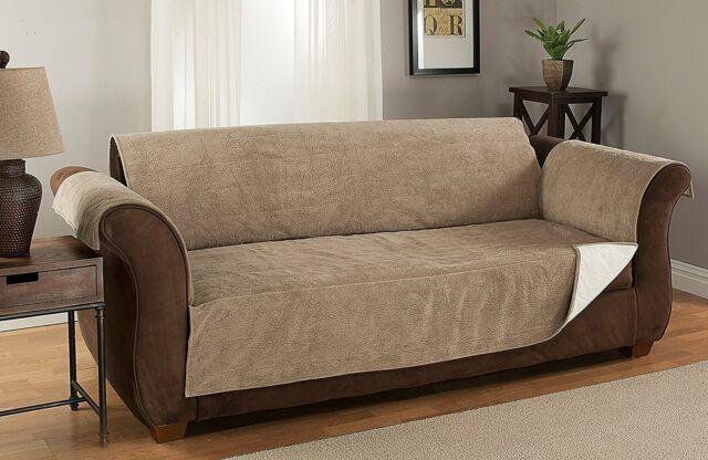 Furniture Fresh Anti Slip Grip Couch Protector Microsuede Sofa Natural