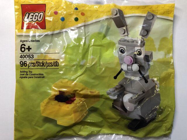 New LEGO Easter Bunny with Basket set 40053 rabbit seasonal new/sealed polybag