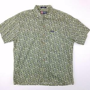 2c96d288 VTG Chaps Ralph Lauren Men's S/S Button Up Green Palm Tree Shirt ...