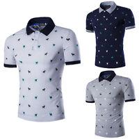 New Mens Polo Shirt Tops Short Sleeve Slim Fit Stylish Casual T-shirts Tee M-XXL