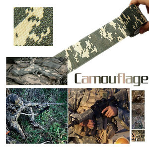 Survival Kit Camo Outdoor Hunting Camping Camouflage Stealth Tape Waterproof