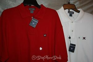 NEW-Mens-Alan-Flusser-Size-2XL-Golf-Polo-Shirts-Red-or-White-Short-Sleeve-NWT