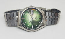 RARE VINTAGE SEIKO AUTOMATIC LM TWOTONE GREEN DIAL DAYDATE MAN'S WATCH