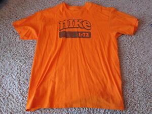 Privilegio Especificado pálido  Retro Nike 1-72 Orange T Shirt Mens XL Swoosh RARE! | eBay