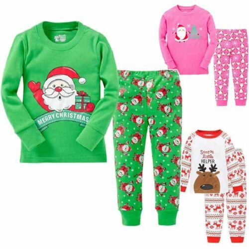 2Pcs Kids Boys Girls Pj/'s Pyjamas Sleepwear Nightwear Pajamas Christmas Xmas Set