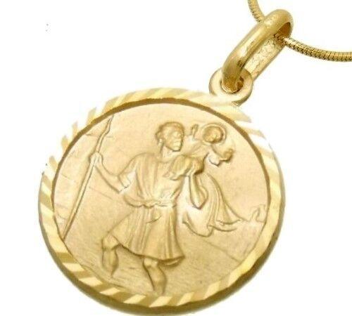 14 Remolque de 333 oro teilmattiert-diam. Cristóbal Christophorus 12mm