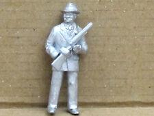 Mann mit extra Gewehr (Al Capone?), Zinnfigur Nr. 32, unbemalt, Omen, 1:43