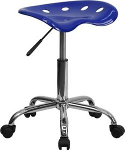 Details About Small Adjustable Rolling Work Shop Stool Tractor Seat Bench  Swivel Desk Chair