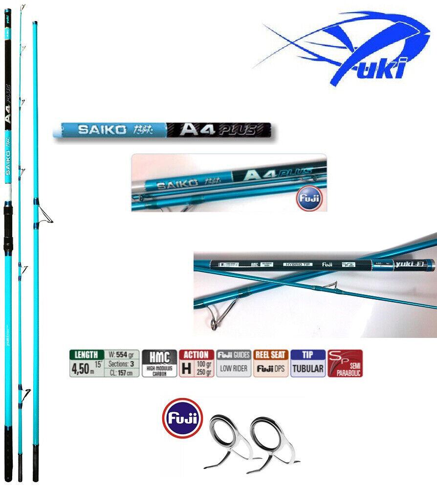 CSSAP445 Yuki Saiko A4 Plus Fuji Tubular punta de caña de pesca de surf 450 cm
