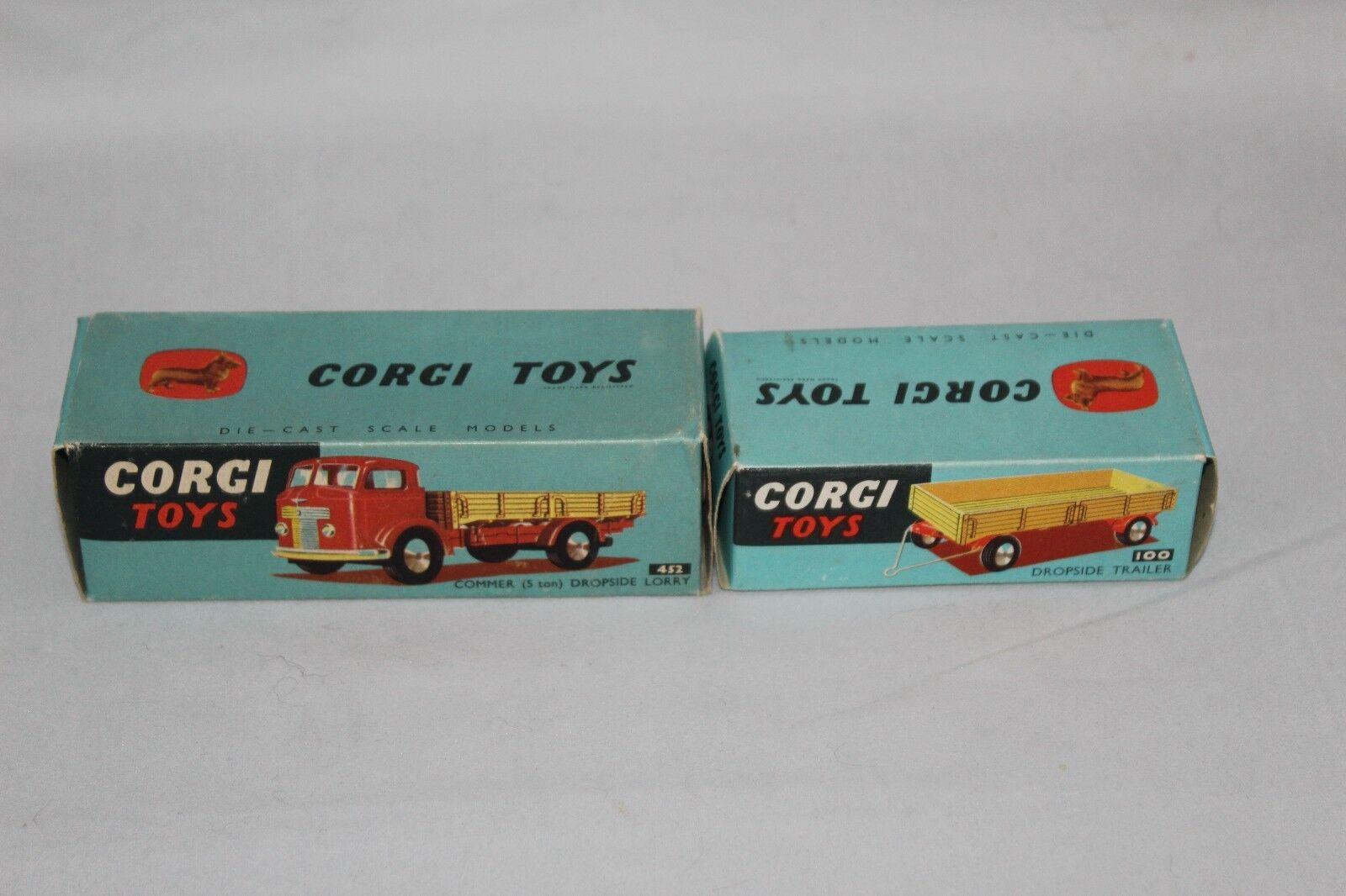 CORGI No.452 COMMER trilatéral camion et Trailer No.100  RÉDUIT