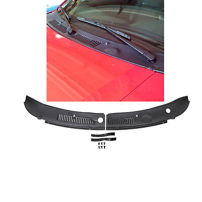 New 2-Piece Windshield Wiper Cowl Vent Grille Panel Hood Assembly For 99-04 Ford Mustang Replaces 3R3Z6302228AAA FO1270102