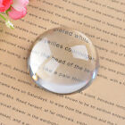 Magnifying Glass Paperweight Dome Magnifier Crystal Ball Map Reading 40-100mm