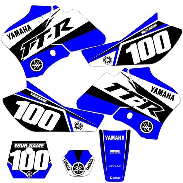 Yamaha TTR 90 Graphics Kit Fits 2000 2001 2002 2003 2004 2005 2006 2007 2008 ST1