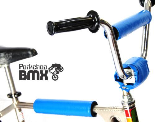 BLUE FLITE VINYL SNAP naugahyde old school BMX Bicycle Handlebar Bar Pad