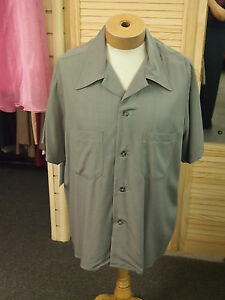 Mens 1940//50/'s Light Blue Check casual shirt Rockabilly Rock /& Roll Rockin RnR
