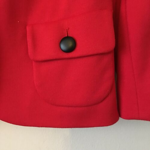 Black Bright 8 Jacket Big Red Uk Smart Minuet Button Work con Size qE0Aa