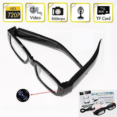 8GB HD 720P Digital Eyewear Glasses Camera Spy Hidden Cam DV DVR Video Camcorder