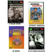 4 Different CANTINFLAS DVD's * NEW* Entrega Inmediata, El Mago, A Volar Joven