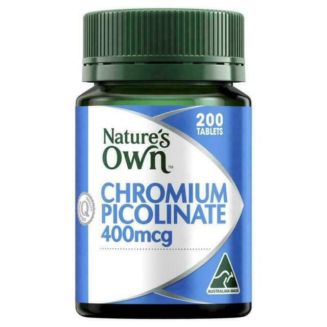 Nature's Own Chromium Picolinate 400mcg 200 tablets - SUPPORT GLUCOSE METABOLISM