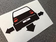 VW MK4 MKIV Mark 4 GOLF GTI R32 Down & Out Vehicle Sticker Decal Vinyl for cars