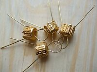 Gold Hanging Pins + Caps for Polystyrene Styrofoam Balls & other Decorations