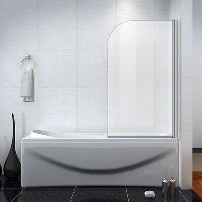 Aica 800x1400mm 180° Pivot Shower Bath Screen Radius Framed Over Bath Door Panel