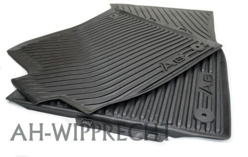 NUOVO AUDI TUNING TAPPETO TAPPETINO IN GOMMA V H Tappetini Gomma Originale s6 a6 4g c7 Tappetini