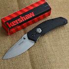 Kershaw Thistle Stonewashed 8Cr13MoV Plain Edge Folding Knife 3812
