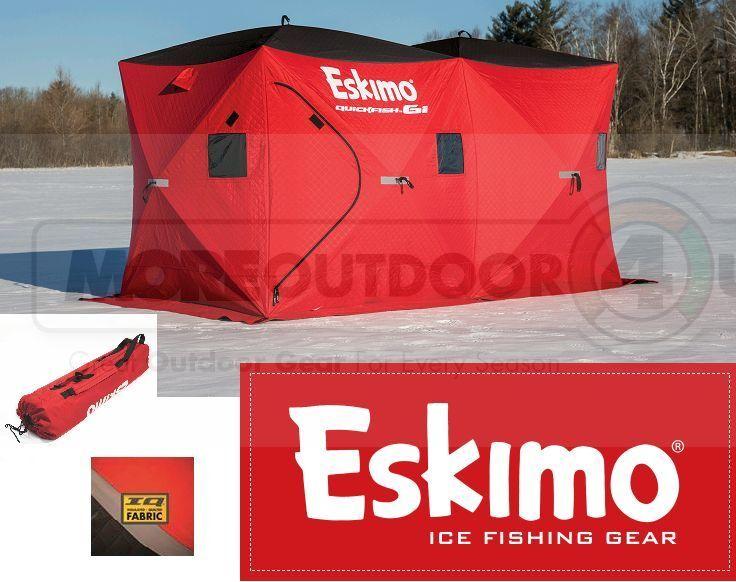 36150 nuevo 2 puertas Esquimal completamente aislado quickfish 6i enorme familia Pesca de Hielo