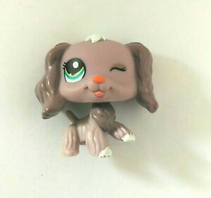Adaptable Little Petshop Pet Shop Lps N° 1373 Chien Epagneul Violet Mauve Hasbro 2006