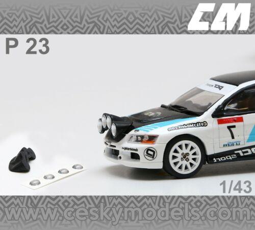 Extra Lights Rallye 1//43 P23 Wrc Transkit Mitsubishi Lancer evo 8 and 9...