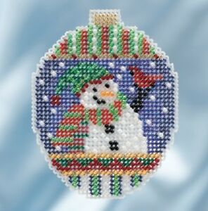 Snowman-Greetings-2018-Mill-Hill-Beaded-Holiday-Ornament-Kit