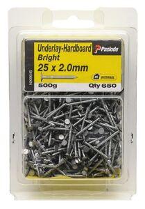 Paslode-ANNULAR-UNDERLAY-HARDBOARD-NAILS-25x2-0mm-650-Pcs-Bright-Steel-AUS-Brand