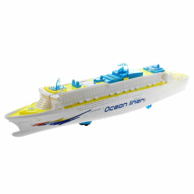 Ocean Liner Cruise Ship Boat Electric Toy Flashing LED lights sounds kids c Q4P4
