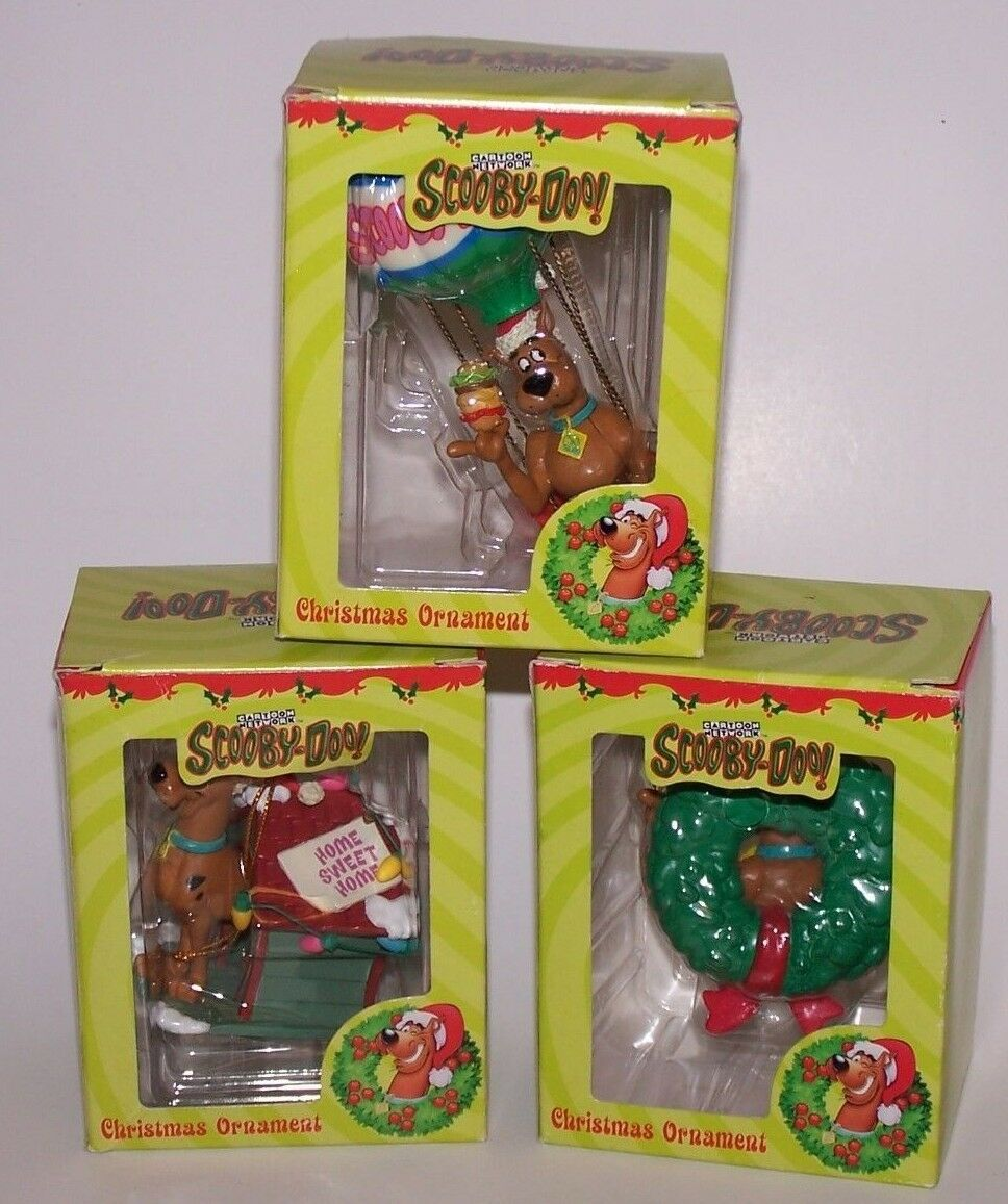 Cartoon Network Scooby-Doo 3 Christmas Ornaments NIB